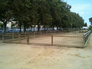 L'àrea de gossos a la seva nova ubicació