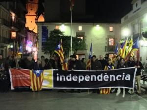 Concentració a la Plaça de l'Ajuntament de Calella. 23 de gener del 2013.