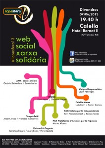 Cartell de la Llopasfera 2013, obra de la dissenyadora Lorena Sànchez