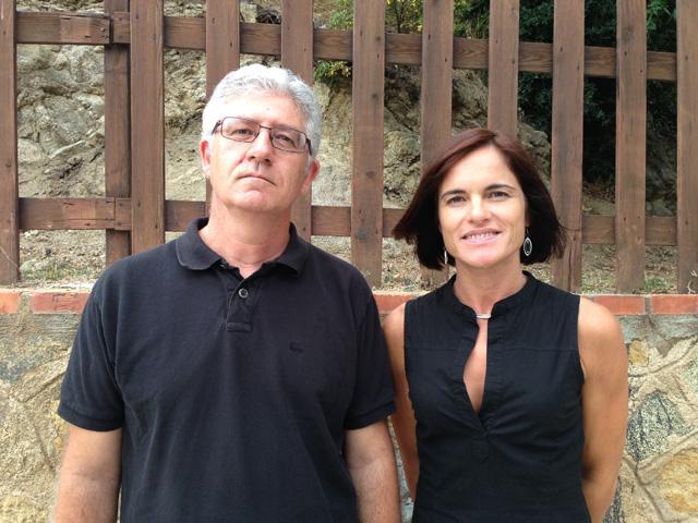 Sebastià Tejada, coordinador de l'Agrupació i Francesca Sànchez, secretària