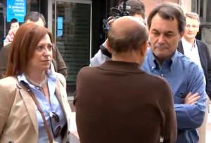 Visita d'Artur Mas a Calella, l'octubre del 2010, com a candidat per Convergènia i Unió a les eleccions del Parlament de Catalunya
