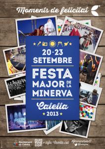Cartell de la Festa Major de la Minerva 2013 de Calella. #fmminerva2013