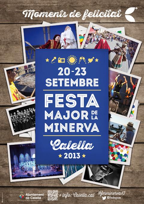 Cartell de la Festa Major de la Minerva 2013 de Calella #fmminerva2013