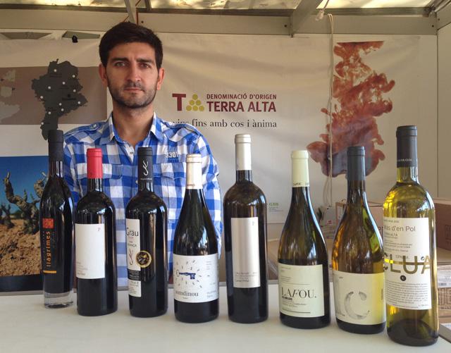 Una mostra dels vins amb denominació d'origen Terra Alta que s'han vist a la Fira. Foto: carlespascual.cat