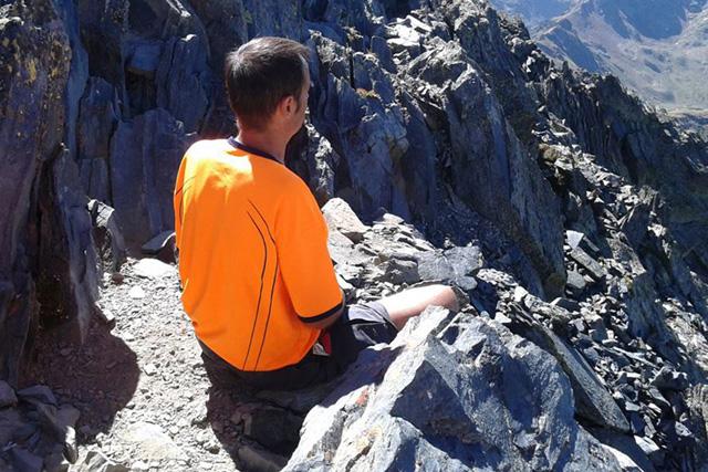 Josep Maria Juhé medita el seu futur des de la Pica d'Estats