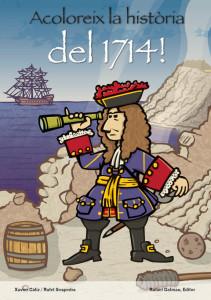 Disseny de la portada del quadern Acoloreix la història, dedicat al 1714. Disseny: Xavier Càliz.