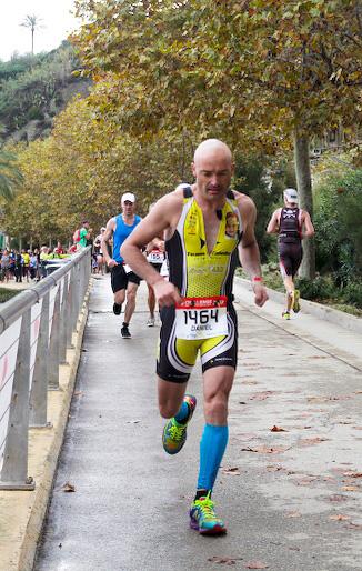 En Dani fent la marató pel Passeig Manuel Puigvert de Calella. Foto: Alfred Lieury