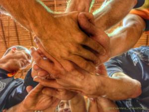La força d'un equip per la plena recuperació d'en Xevi. Foto: carlespascual.cat