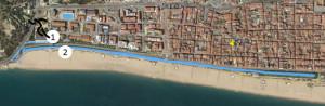 Circuit de còrrer a la zona del Passeig de mar. Foto: Calella Trail Festival