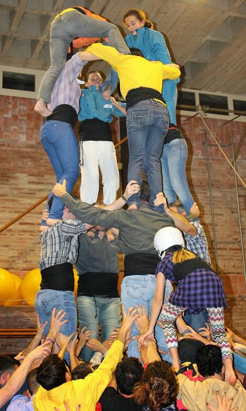 Assaig de la Colla Castellera de l'Alt Maresme. Foto: Colla Castellera