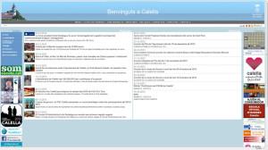 Imatge de l'antic lloc web de l'Ajuntament de Calella.