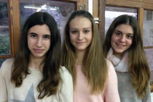 La Júlia Pagès, la Cristina Freire i la Júlia Coll volen ser a l'Algarve amb el Conservatori Laie d'Alella. Foto: carlespascual.cat