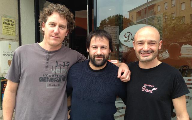 James Manresa, Quim Fàbregas i Dani Aranda, el Team 'Calella-Caparan'. Foto: carlespascual.cat