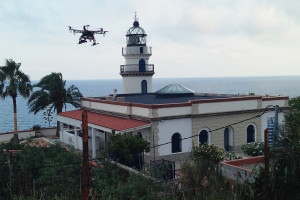 Far de Calella vist per un 'dron'