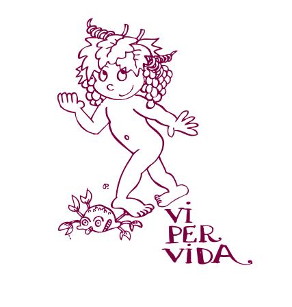El logo de Vi per Vida, dissenyat per Pilarín Bayés. Foto: Vi per Vida
