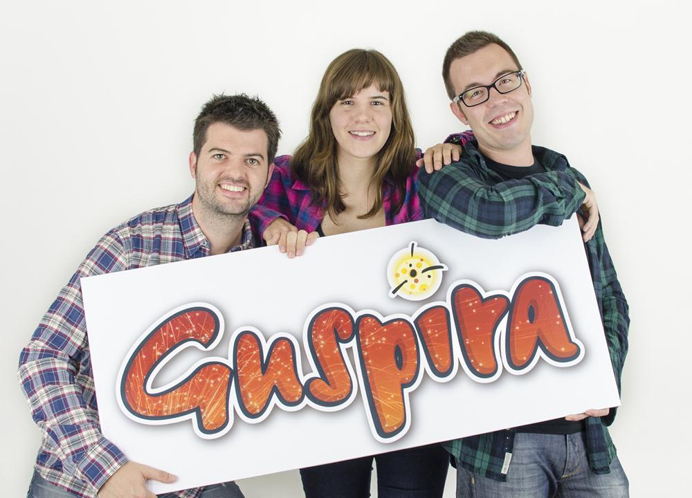 """L'equip del """"Guspira"""", el joc dels correfocs. Foto: Guspira"""