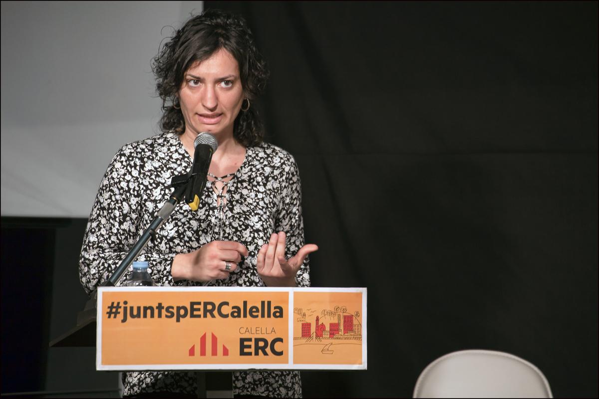 Cristina Gómez, l'alcaldable d'ERC a les Municipals a Calella. Foto: Tino Valduvieco.