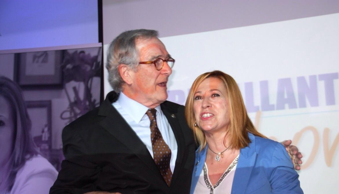 L'alcalde de Barcelona Xavier Trias, d'amfitrió a l'acte de presentació de Montserrat Candini com a alcaldable a l'Ajuntament de Calella. Foto: CiU Calella