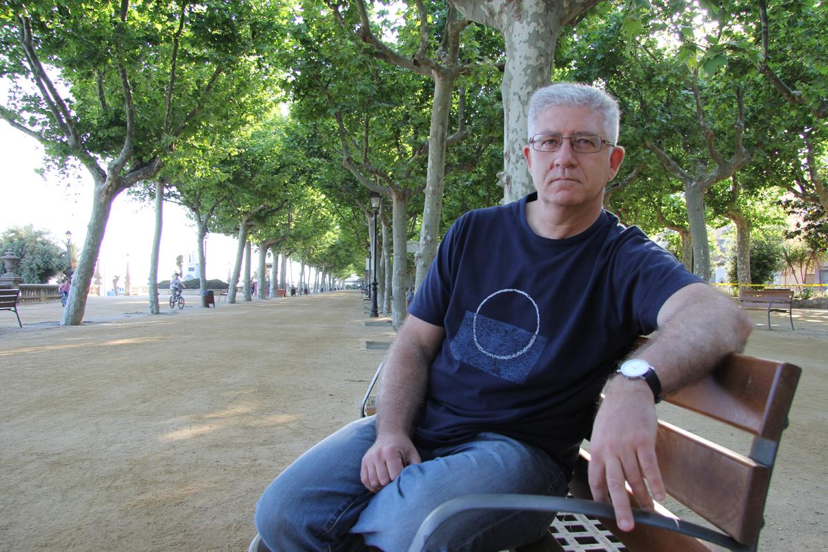 Sebastián Tejada, alcaldable d'Iniciativa per Catalunya Verds. Foto: Bernat Marrè