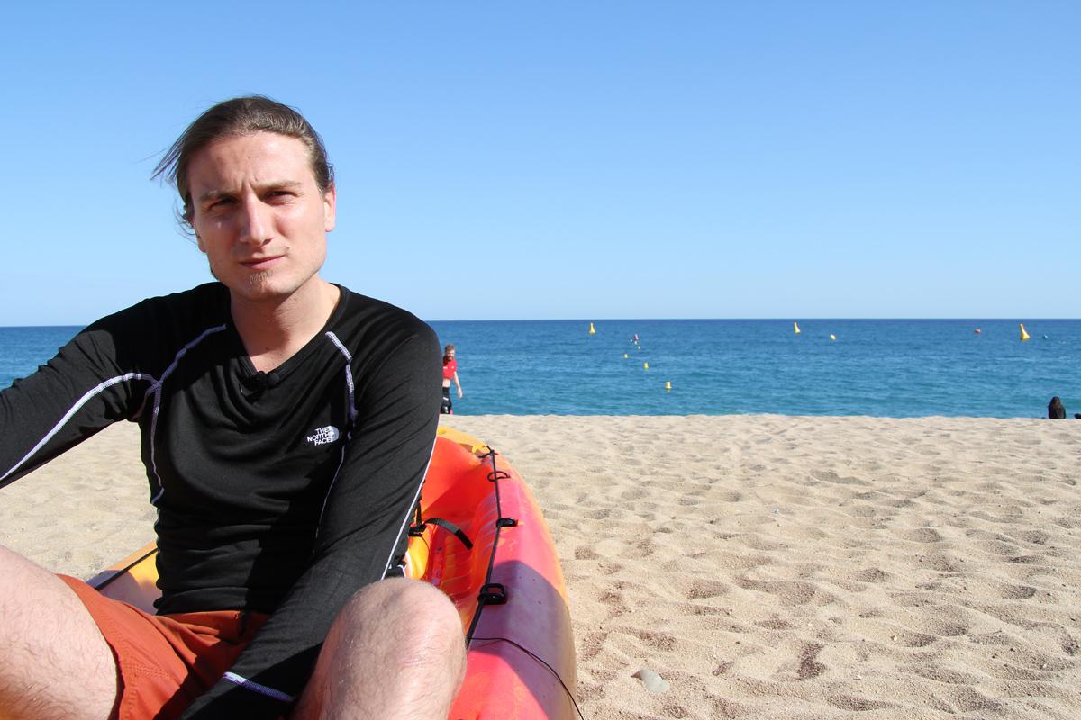 Jan Catà, alcaldable de la CUP a Calella. Foto: Bernat Marrè