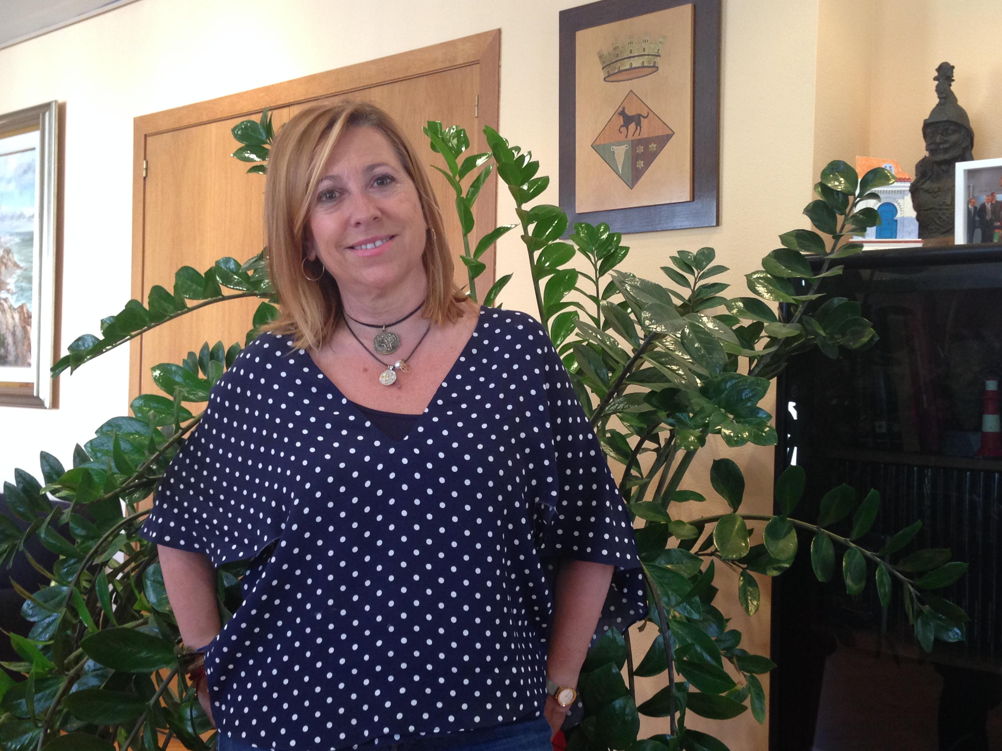 Montserrat Candini, alcaldessa en funcions de Calella